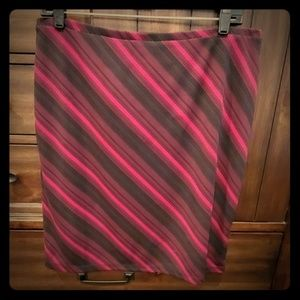 Cranberry and Black Skirt